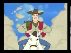 Adventures from the Book of Virtues Pecos Bill and Slue Foot Sue Bible Character Study, Pecos Bill, Garage Plans With Loft, Social Studies Resources, 4th Grade Classroom, Tall Tales, School Videos, Top Videos, Classic Cartoons