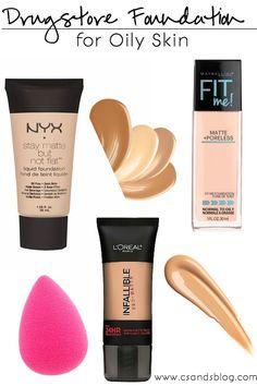Drugstore Foundations for Oily Skin