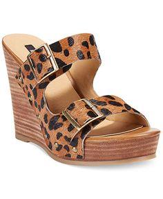 kensie Reid Platform Wedge Sandals