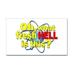 Amazon.com: Big Bang Theory Hell Sticker Rectangle by CafePress - White: Home & Kitchen
