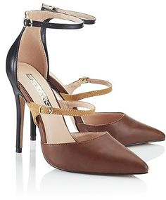 d4cf3ccb41 Womens chocolate soloro strappy courts from Lipsy - £75 at  ClothingByColour.com Tan Shoes