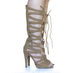 Knee High Gladiator Cut Out Corset Lace up Stiletto High Heel Dress Sandal *** Be sure to check out this awesome product.