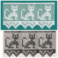 30 ideas crochet lace chart doily patterns for 2019 Filet Crochet Charts, Crochet Motifs, Crochet Borders, Thread Crochet, Crochet Shawl, Crochet Doilies, Crochet Stitches, Moda Crochet, Art Au Crochet