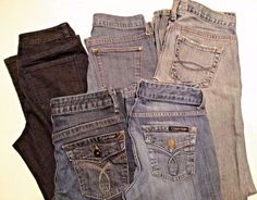 Lot of 5 Jeans - Size 6 - Calvin Klein Abercrombie & Fitch Talbots Old Navy  #Mixed #CalvinKlein #abercrombie #oldnavy #talbots http://www.medusamaire.com/treasures/ to see all of Medusa Maire's items for sale!