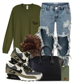 """""""Untitled #580"""" by b-elkstone ❤ liked on Polyvore featuring One Teaspoon, NIKE, H&M, Givenchy and Native Union"""