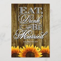 Country Western Wood Sunflower Wedding Invitations Wedding Invitation Size, Sunflower Wedding Invitations, Wedding Rsvp, Wedding Matches, Wedding Cards, Our Wedding, Wedding Card Design, Wedding Details, Colored Envelopes