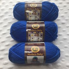 A personal favorite from my Etsy shop https://www.etsy.com/listing/490448138/lion-brand-yarn-modern-baby-blue