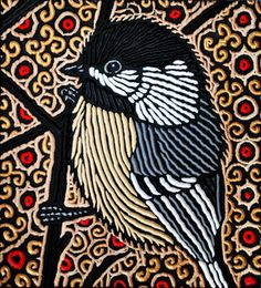 chickadee by Lisa Brawn, via Flickr