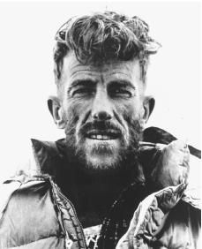 Sir Edmund Hillary (1919 - 2008) New Zealand mountaineer, he and Tenzing Norgay were the first men to summit Mount Everest, May 29, 1953
