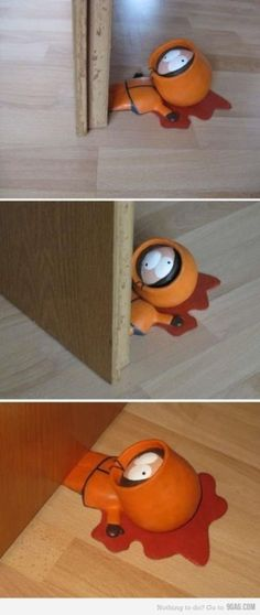 South Park's Kenny door stopper - I MUST HAVE THIS!!
