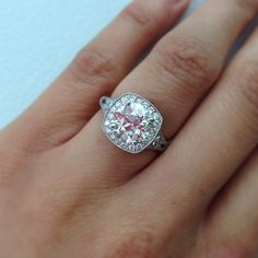 Simply stunning! Bold and delicate at the same time this 2.45ct old European cut diamond sparkled in our hand crafted platinum mounting. A Single Stone original. (213) 892-0772 www.singlestone.com #diamonds #platinum #engagement #wedding #special #love #sparkle #glitter #fun #finejewelry #jewelry #hello #rings #artdeco #gatsby #losangeles #dtla #want #gorgeous