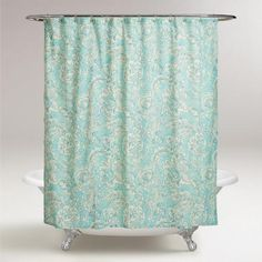 Aqua Floral Adelaide Shower Curtain from Cost Plus World Market. Shop more products from Cost Plus World Market on Wanelo. Decor, Home Furniture, Floral Shower Curtains, Shower Bath, Curtains, Basic Shower Curtain, Cool Furniture, Holiday Shower Curtains, Bathroom Decor