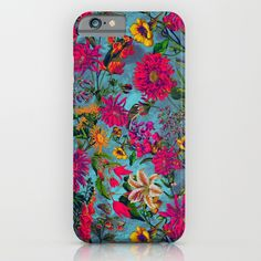 Check out society6curated.com for more! @society6 #floral #flowers #pattern #phone #case #phonecase #accessory #accessories #fashion #style #buy #shop #sale #cool #sweet #rad #awesome #fun #beautiful #beauty #pretty #botanical #iphone #products #product  #botanical #red #pink #yellow #blue