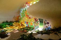 Earth Ship Home made of recycled materials