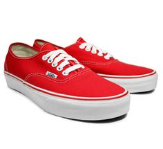 Red Vans. - want.