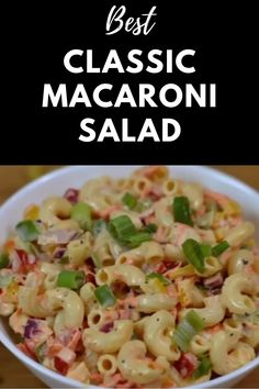 Deli Style Macaroni Salad or Cold Pasta Salad is a colorful ,delicious salad recipe prepared with grated carrot, onion, bell pepper all tossed in a creamy mayonnaise-mustard dressing. Vegetarian Salad Recipes, Spicy Recipes, Veg Pasta Recipes, Indian Food Recipes, Cooking Recipes, Healthy Recipes, Macaroni Salad, Pasta Salad, Chaat Recipe