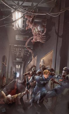 Resident Evil 2 by Art-by-Evan William Higinbotham developed an analogue computer with vacuum tube Tyrant Resident Evil, Resident Evil Video Game, Resident Evil 3 Remake, Arte Zombie, Zombie Art, Leon S Kennedy, Evil Games, Apocalypse Art, Evil Art