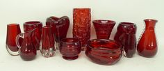 Whitefriars Glass Ruby Red