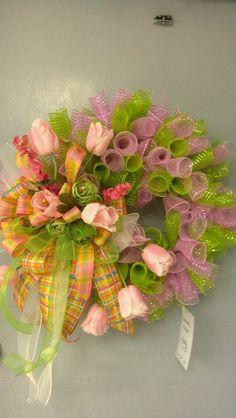 Spring wreath deco mesh by kelly columbia store