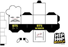 BTS Hip Hop Monster Rapmon Papercraft by ill-dope-swag.deviantart.com on @DeviantArt