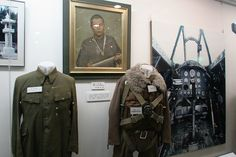 KAMIKAZE PILOT UNIFORMS, on display at the Special Attack Peace Memorial Museum, in Chiran, Kyushu Island, Southern Japan. Chiran was the airbase from where kamikaze pilots took off on their final missions. Kamikaze Pilots, Pilot Uniform, Ww2 Uniforms, Memorial Museum, 2 In, World War, Aviation, Peace, Japanese