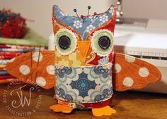 Riley Blake Designs -- Cutting Corners: Pinfeathers Owl Pincushion