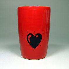 18oz tumbler heart throb - Made to Order / Pick Your Colour