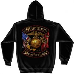 USMC Distressed Gold Foil Hooded Sweatshirt #usmc #marinecorps #marines #marine #sweatshirt #sweatshirts