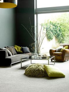 Sunny exposures lend themselves well to dark walls