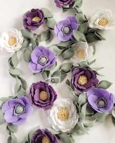 Flower Nursery Decor  Felt Garland  Wedding Garland by thegreyrose