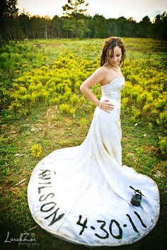 With your divorce date instead! #trashthedress #divorce photoshoot idea
