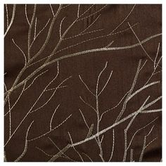 Curtain Panels Chocolate (Brown) Floral