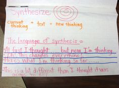 synthesis in reading