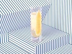 Banana cockail - special drink- editorial for House of Peroni. Set Design by Camille Boyer. Photography by Aleksandra Kingo.