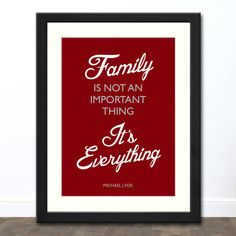 Family is Everything Print (Cherry) in Black Frame