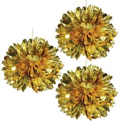 Does it get any more fun than fluff? Fill your party venue with fluffy fun and delight with these Metallic Gold Fluff Balls, a shiny addition to your party . Gangster Party, Al Capone, Bonny Und Clyde, Metallic Gold Color, Diy Photo Booth, Party Venues, Oriental Trading, Stunningly Beautiful, Gold Stars