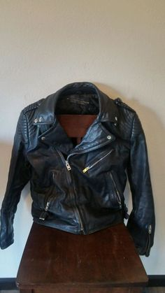 VTG Hein Gericke 40 Leather Motorcycle Jacket #HarleyDavidson #Motorcycle