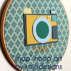 """Christmas Gift Ideas   This """"SNAP"""" embroidery hoop art is perfect for the photog on your holiday shopping list!"""