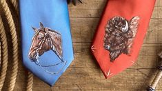 Clara Smith, a cowgirl artist from Oregon, has started hand-painting men's ties – a beautiful way to combine art with fashion! And they are the perfect gift for any cowboy in your life!