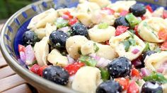 A package of frozen cheese-filled tortellini is the quick-fix shortcut for this easy pasta salad, which can be made ahead and refrigerated.