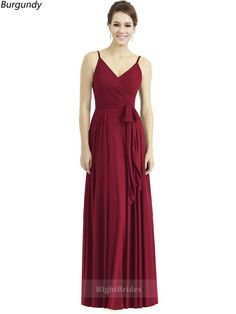 9413edbde98 Best 2018 Long Chiffon Burgundy Sleeveless Bridesmaid Dresses Canada 171124