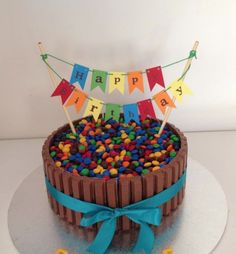 Personalised Card Stock Cake Bunting - Rainbow flags, Garland, for any occasion