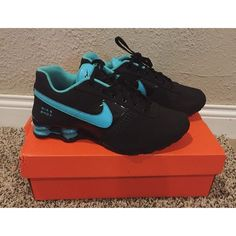 Womens Nike Shox These are 6.5 youth, which is the same as roughly an 8 womens. The box that I bought these in isn't the correct box. Worn twice, great condition. I have another pair that I've worn for almost 2 years and they are in great condition, these