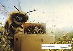 Farbraum Beekeeper for @Lara Fredrick farbraum, digit art, advert, beekeep, digital art, heart bee, bee awar, bee keeper, honey bee