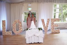 Gregg & Fiona's Rathsallagh House Wedding Function Room, Greggs, Flower Wall, Well Dressed, Light Up, Wedding Venues, Wall Lights, Letters, Elegant