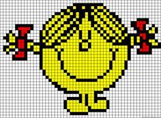 Little Miss Sunshine perler bead pattern