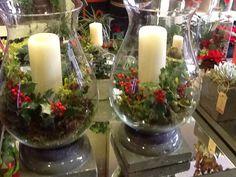 Candelabros adornados para navidad