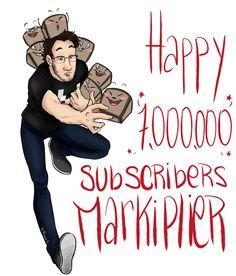 Markiplier Reaches 7 Million Subscribers - markiplier Fan Art