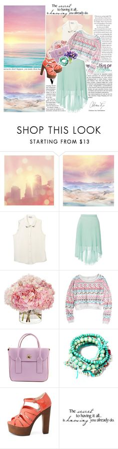 """lagoon"" by teaa ❤ liked on Polyvore featuring Bailey, Dorothy Perkins, Kate Spade, Isharya, Pull&Bear, Charlotte Russe and WALL"