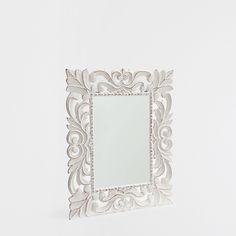 MIROIR BLANC BOIS AJOURÉ - Miroirs - Décoration | Zara Home France